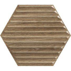 Woodskin Wood Heksagon Struktura B Ściana 19.8x17.1 Gat.1
