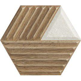 Woodskin Mix Heksagon Struktura C Ściana 19.8x17.1 Gat.1