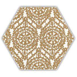 Shiny Lines Gold Heksagon Inserto A 19.8x17.1