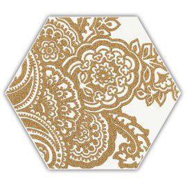 Shiny Lines Gold Heksagon Inserto B 19.8x17.1 Gat.1