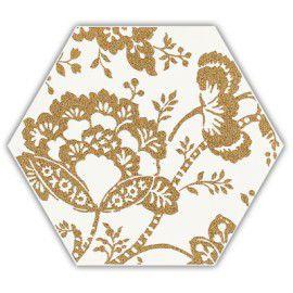Shiny Lines Gold Heksagon Inserto C 19.8x17.1 Gat. 1