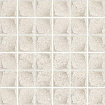 Minimal Stone Grys Mozaika Prasowana K.4,8X4,8 29.8x29.8 Gat.1