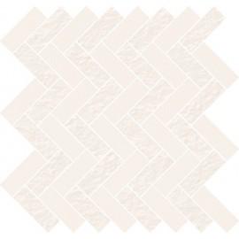 WHITE MICRO MOSAIC PARQUET MIX 31,3x33,1 GAT.1